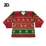 Christmas Design Hockey Jersey and socks