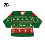 Sublimation Hockey Jersey socks Christmas Customized